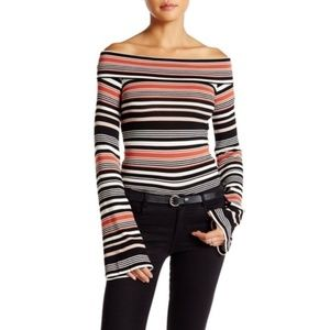 Free People | Portland Stripe Off The Shoulder Top
